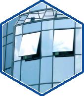 зенитные фонари промышленных зданий из стекла